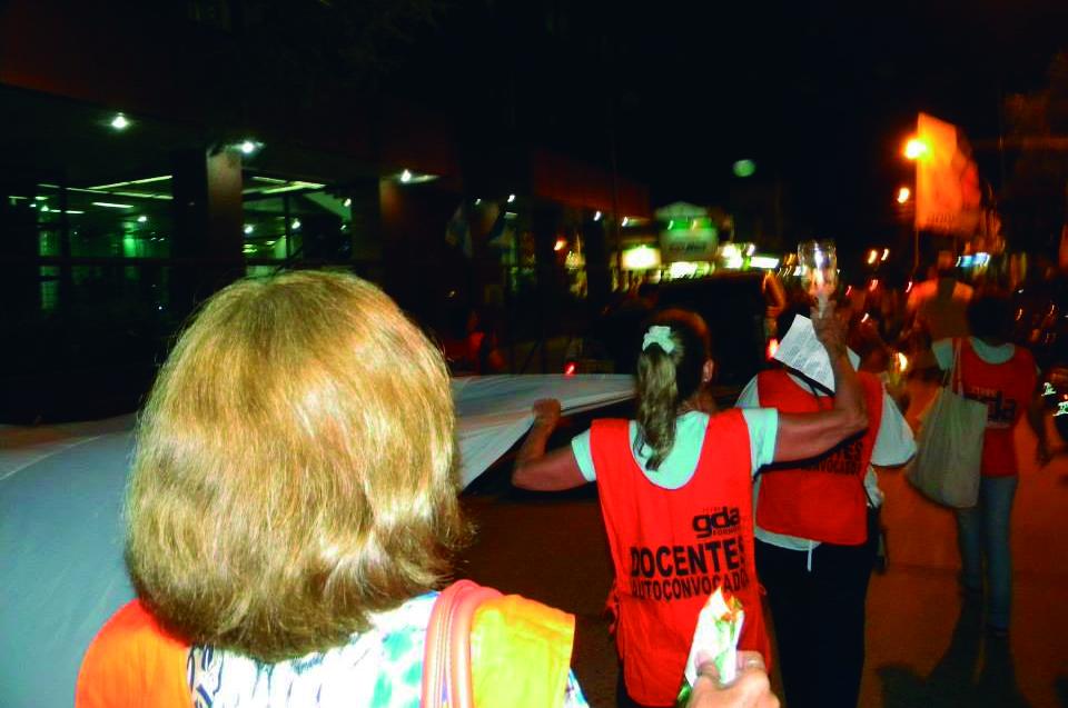 Marcha de antorchas por la Universidad Pública